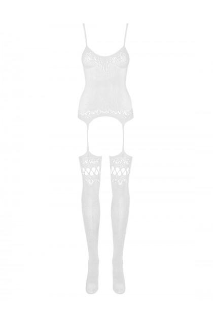 F214 Bodystocking - Blanc