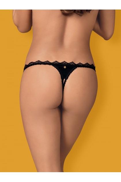 Lolitte String ouvert - Noir