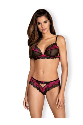 Tulia Set 2 pcs - Black & Fuchsia