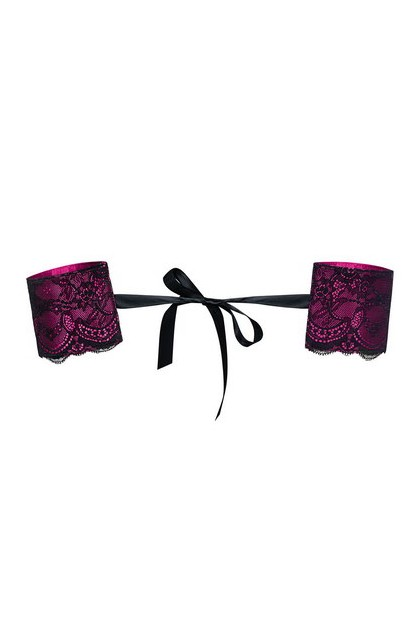 Handcuffs pink black lace Roseberry
