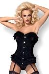 Corset black velvet with string Baletti