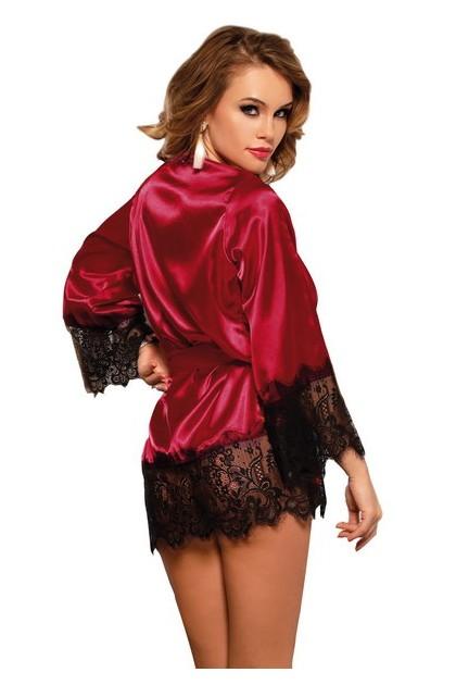 Satin red bathrobe
