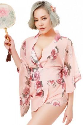 Kimono rose Geisha