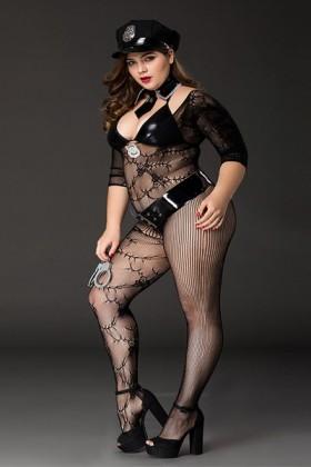 Costume sexy de policière XXL