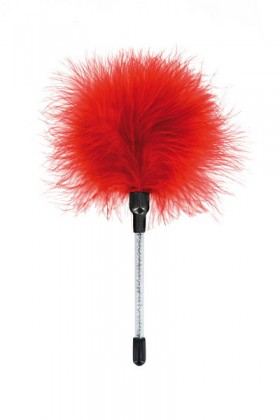 Red caress feather duster