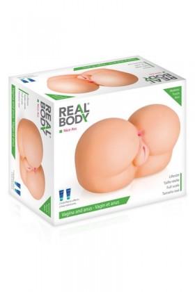 Fessier réaliste 2 orifices Real Body Nice Ass