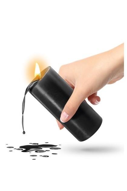 Black low temperature candle