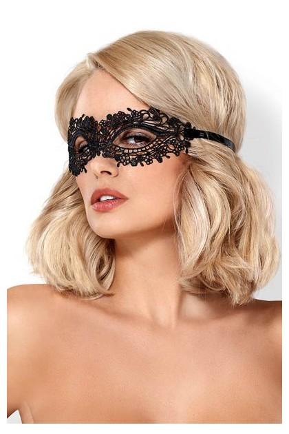 Masque brodé sexy noir A710 Obsessive